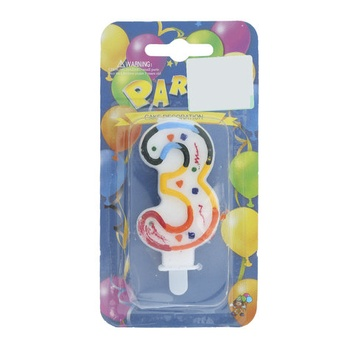 Numerical Birthday Candle Number - 3
