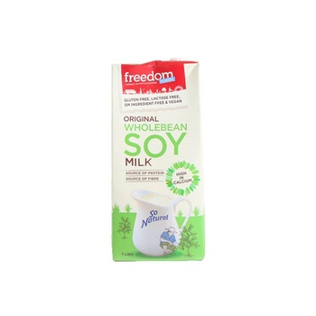 Freedom Foods Soy Milk So Natural Gluten Free 1ltr