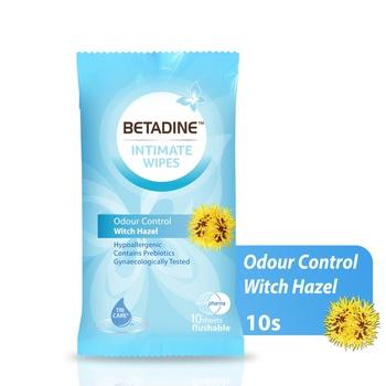 Betadine Intimate Wipes Hazel 10's