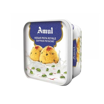Amul Kesar Pista Ice Cream 1 ltr