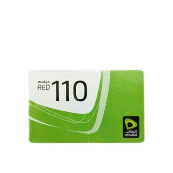 Etisalat Scratch Card 110 AED