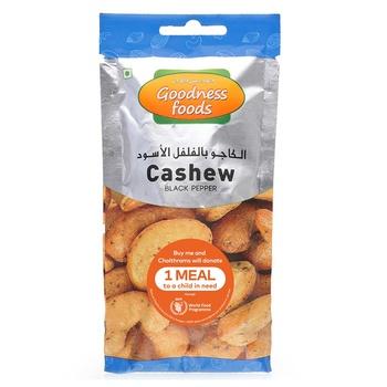 Goodness Foods Cashew Black Pepper Packet 40g