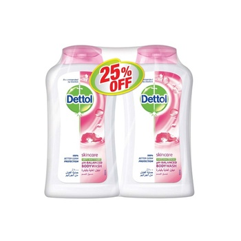 Dettol Skincare Bodywash 2 x 250 ml @ 25% Off