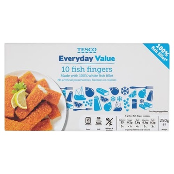 Tesco Everyday Value 10 Fish Fingers 250g