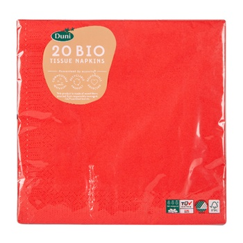 Duni Napkins Red 40 x 40 cm 20 count