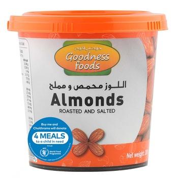 Goodness Foods Almonds Roasted & Salted Jar 200g