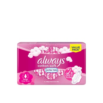 ALWAYS Soft Ultra Thin Large sanitary pads 16s