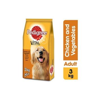 Pedigree Chicken & Vegetables Dry Dog Food Adult 3kg