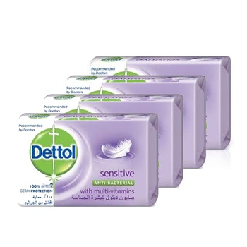 Dettol Sensitive Anti bacterial Bar Soap 165g Pack of 4 @ 35% Off