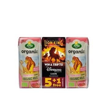 Arla Organic Strawberry Milk 6x200ml