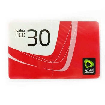 Etisalat Mobile Recharge Card 30 AED