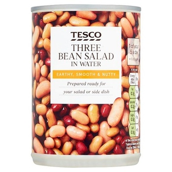 Tesco W/F Three Beans Saladin Water 400g