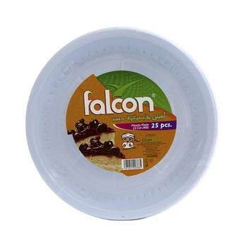 Falcon Plastic Plate 25cm M8 25pcs