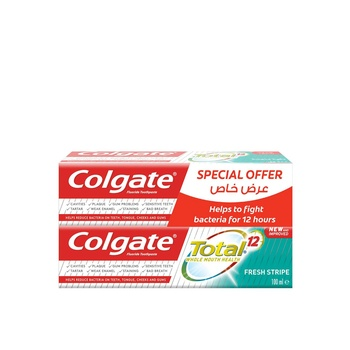 Colgate Toothpaste Total Fresh Stripes 100ml Pack Of 2