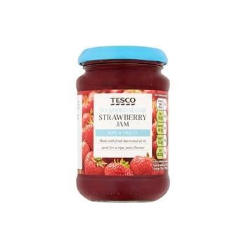 Tesco Strawberry Jam No AddedSugar 340g