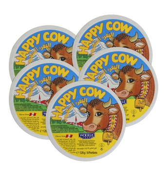 Happy Cow Round Portion Cheese 5X120g
