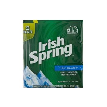 Irish Spring Soap Icy Blast 104ml Pack of 3