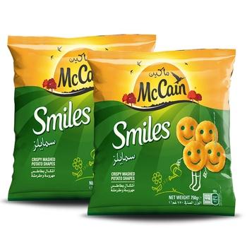 McCain Potato Smile 750g Pack of 2