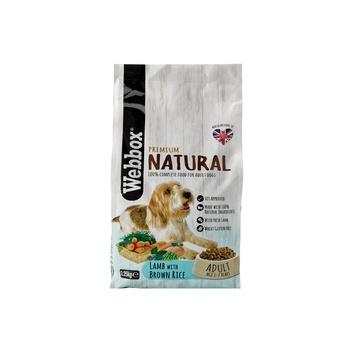 Webbox Natural Dog Food Complete Adult Lamb Dry 2.25kg