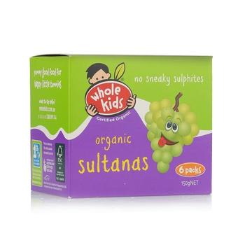 Wholekids Organic Sultanas 150g