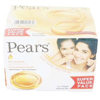 Pears Bar Soap 6 x 125g