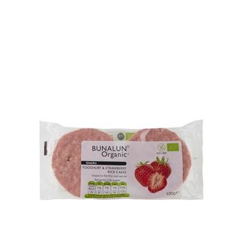 Bunalun Organic Yoghurt & Strawberry Rice Cakes 100g