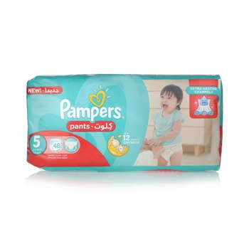 Pampers Pants Diapers  Size 5  Junior  12-18 kg  Jumbo Pack  48 Count