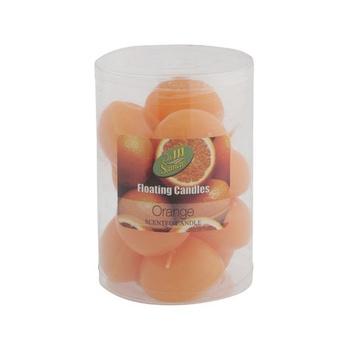 Samar Floating Candle 10 pcs pack- Orange