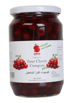 Sava Sour Cherry Compote Pitted 720ml