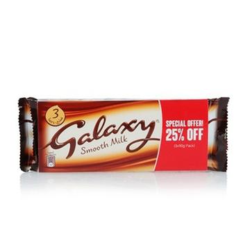 Galaxy Milk 3 x 90g