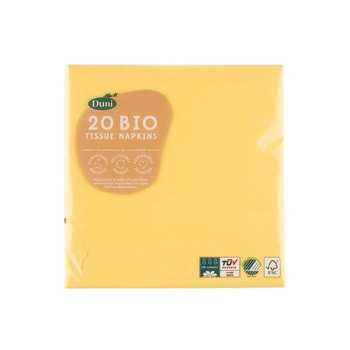 Duni Napkin 33cmx3Ply - Brilliant Yellow 20s