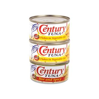 Century Tuna 2 Hot & Spicy +1 Vegetable Oil 180g