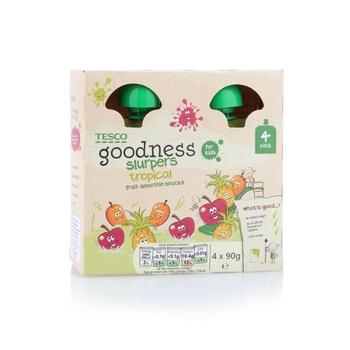 Tesco Goodness Tropical Slurpers 90g