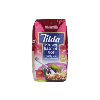 Tilda Basmati Rice Brown 1kg