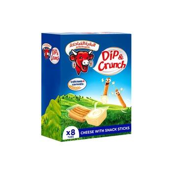 La Vache qui rit Dip & Crunch Cheese and Breadstick Snack 8 Pieces 280g