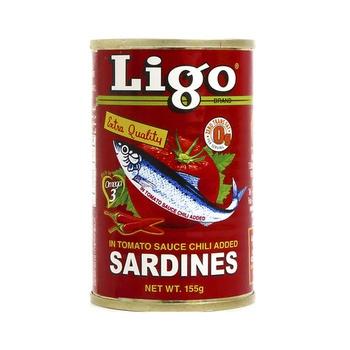 Ligo Sardines In Tomato Sauce Chilly Added 155g