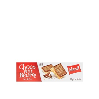 Wernl Choc Petit Beurre Au Lait 125g