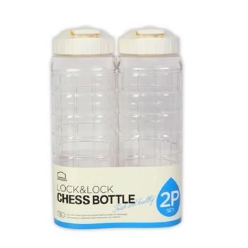 Lock & Lock Chess Water Bottle 1 ltr X 2 Pcs Pack