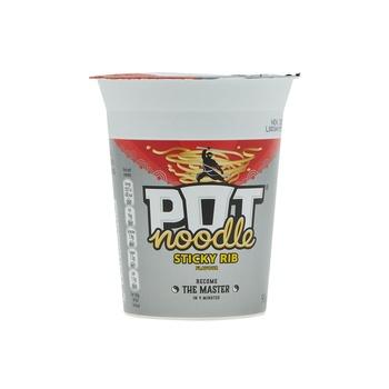 Pot noodles sticky ribs 90g