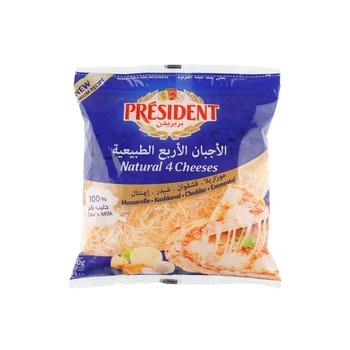 President Shredded 4 Cheeses 400G