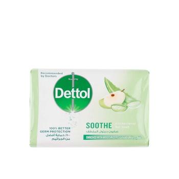 Dettol Soothe Antibacterial Bar Soap Aloe Vera & Apple 120g