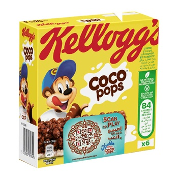 Kellogs Coco Pops Cereal Bar 6 x 20g