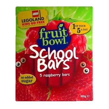 Fruit Bowl Raspberry School Bars No Added Sugar 100g