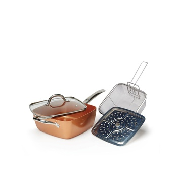 Copper Chef Square Deep Pan 9.5 inch - 4 pcs Set