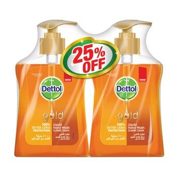 Dettol Gold Classic Clean Liquid Handwash 2 x 200 ml @ 25% Off