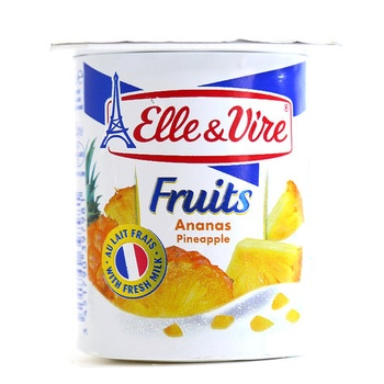 Elle & Vire Fruit Yoghurt Pineapple 125g