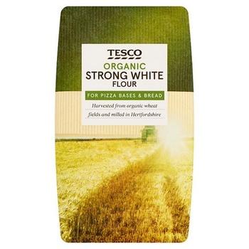 Tesco Organic Strong Whte Flour 1Kg