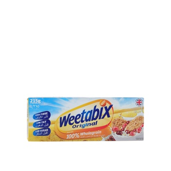 Weetabix Cereal Natural Whole Grain Wheat 215g