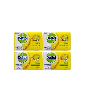 Dettol fresh anti-bacterial bar soap 4x120g