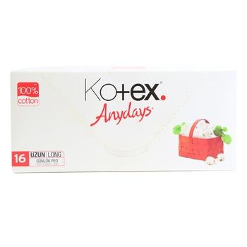 Kotex Anydays Liner Long 16 pcs